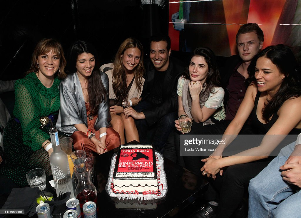 Actress Marianna Kulukundis, director Zeina Durra, Siran Manoukian, producer Mohammed Al Turki, Barron Hilton and actress <a gi-track='captionPersonalityLinkClicked' href=/galleries/search?phrase=Michelle+Rodriguez&family=editorial&specificpeople=206182 ng-click='$event.stopPropagation()'>Michelle Rodriguez</a> attend 'The Imperialists Are Still Alive!' after party held at Trousdale on April 19, 2011 in West Hollywood, California.
