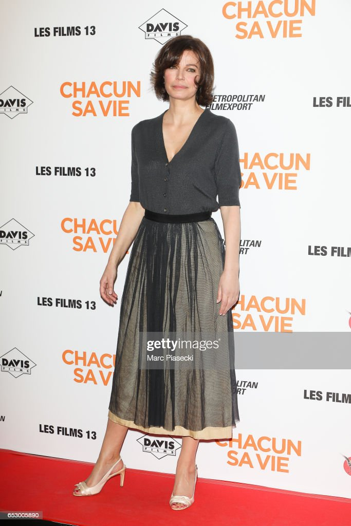 Actress Marianne Denicourt attends the 'Chacun sa vie' Premiere at Cinema UGC Normandie on March 13, 2017 in Paris, France.