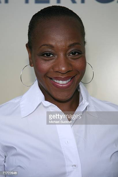 Actress Marianne JeanBaptiste arrives at the BAFTA/LAAcademy of Television Arts and Sciences Tea Party at the Century Hyatt on August 26 2006 in...