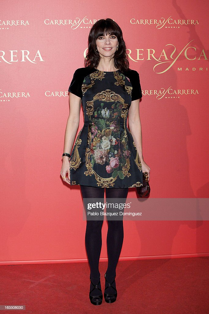 Actress Maribel Verdu attends 'Maja de los Goya Awards 2012' at Fernan Nunez Palace on March 7, 2013 in Madrid, Spain.