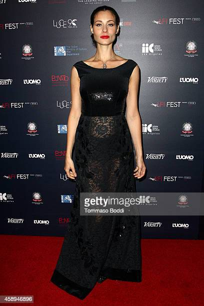 Actress Marica Pellegrinelli attends the American Cinematheque Film Series Cinema Italian Style opening night gala held at the Egyptian Theatre on...