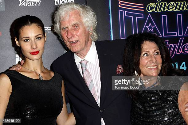 Actress Marica Pellegrinelli photographer Douglas Kirkland and guest attend the American Cinematheque Film Series Cinema Italian Style opening night...
