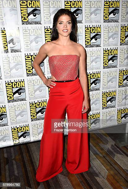 Actress Marie Avgeropoulos attends 'The 100' Press Line during ComicCon International 2016 at Hilton Bayfront on July 22 2016 in San Diego California
