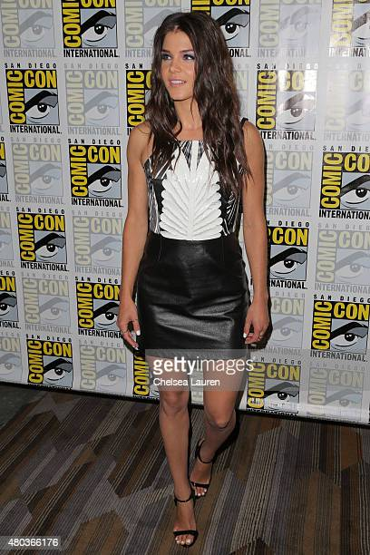 Actress Marie Avgeropoulos attends the 'The 100' press room during day 2 of ComicCon International on July 10 2015 in San Diego California
