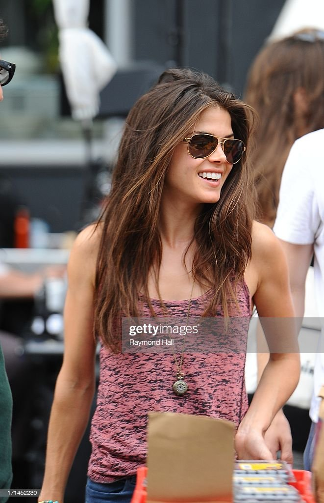 Actress Marie Avgeropoulos is seen on the set of Tracers on June 24, 2013 in New York City.