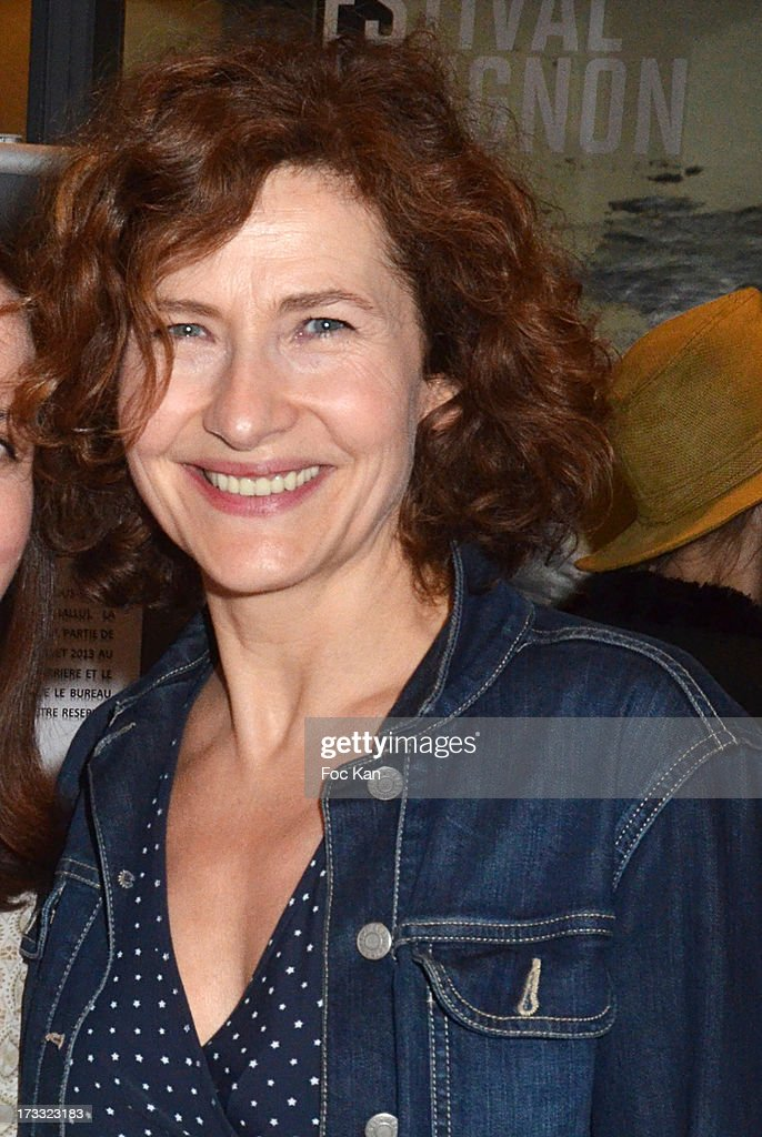 Actress Marie Bunel attends the 'Florides' : Margot Abascal's Short Movie Screening Cocktail at the SACD on July 11, 2013 in Paris, France.