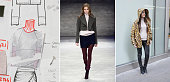 In this composite image a comparison has been made between a piece from designer Charlotte Ronson's collection in production in the design studio to...