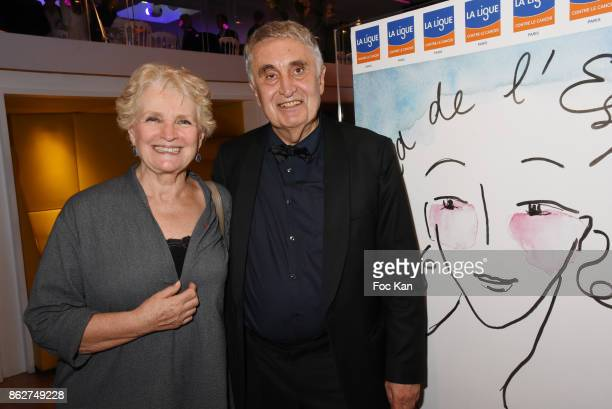 Actress Marie Christine Barrault and ean Loup Arnaud attend the 'Gala de L'Espoir' Auction Dinner Against Cancer at the Theatre des Champs Elysees on...