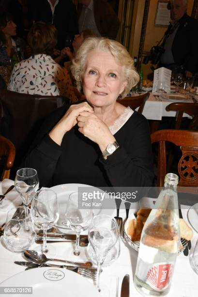 Actress Marie Christine Barrault attends 'Journees du Livre et du Vin 2017' Jury Deliberation Lunch at Le Procope on March 27 2017 in Paris France