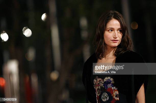 Actress Marie Gillain attends the 'Let It Rain' premiere during the 3rd Rome International Film Festival held at the Auditorium Parco della Musica on...