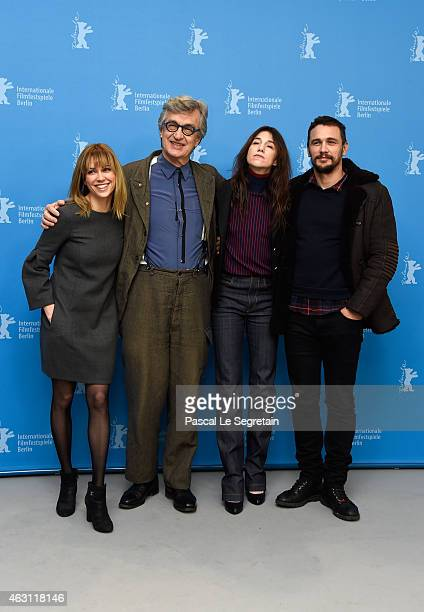 Actress Marie Josee Croze director Wim Wenders and actors Charlotte Gainsbourg and James Franco attend the 'Every Thing Will Be Fine' photocall...