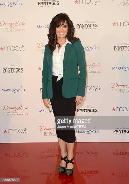 Actress Marie Osmond attends the 4th Annual National Believe Day at Macy's Pasadena on December 14 2012 in Pasadena California