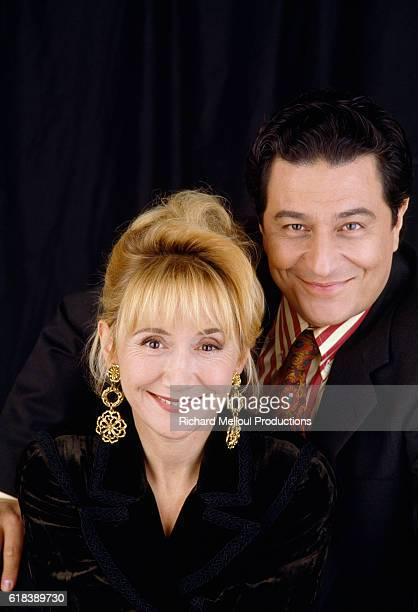 Actress MarieAnne Chazal with Partner Christian Clavier