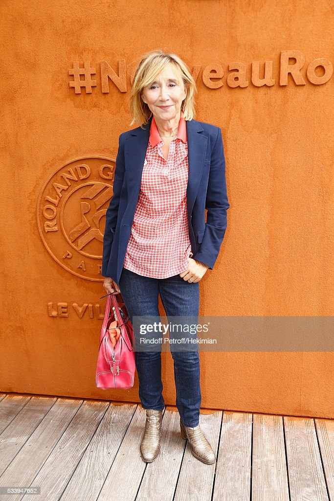 Actress Marie-Anne Chazel attend the 2016 French Tennis Open - Day Three at Roland Garros on May 24, 2016 in Paris, France.