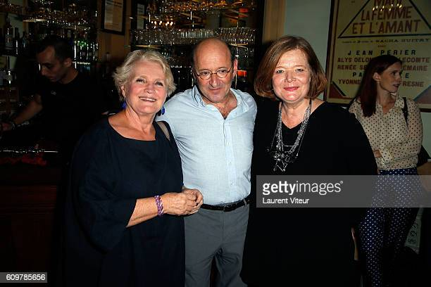 Actress MarieChristine Barrault Actor Gilles GastonDreyfus and Actress Anne Benoit attend 'Couple' Theater Play at Theatre Edouard VII on September...