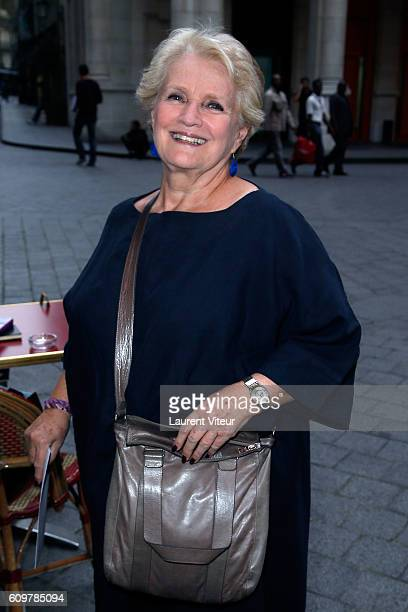 Actress MarieChristine Barrault attends 'Couple' Theater Play at Theatre Edouard VII on September 22 2016 in Paris France