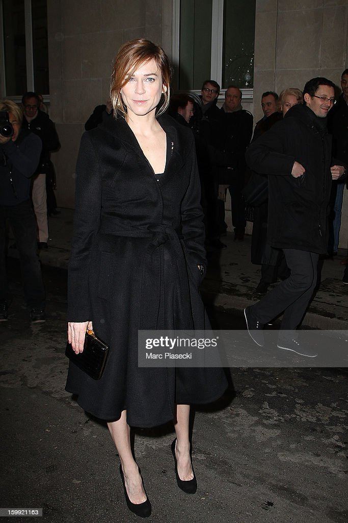 Actress Marie-Josee Croze arrives to attend the Elie Saab Spring/Summer 2013 Haute-Couture show as part of Paris Fashion Week at Pavillon Cambon Capucines on January 23, 2013 in Paris, France.
