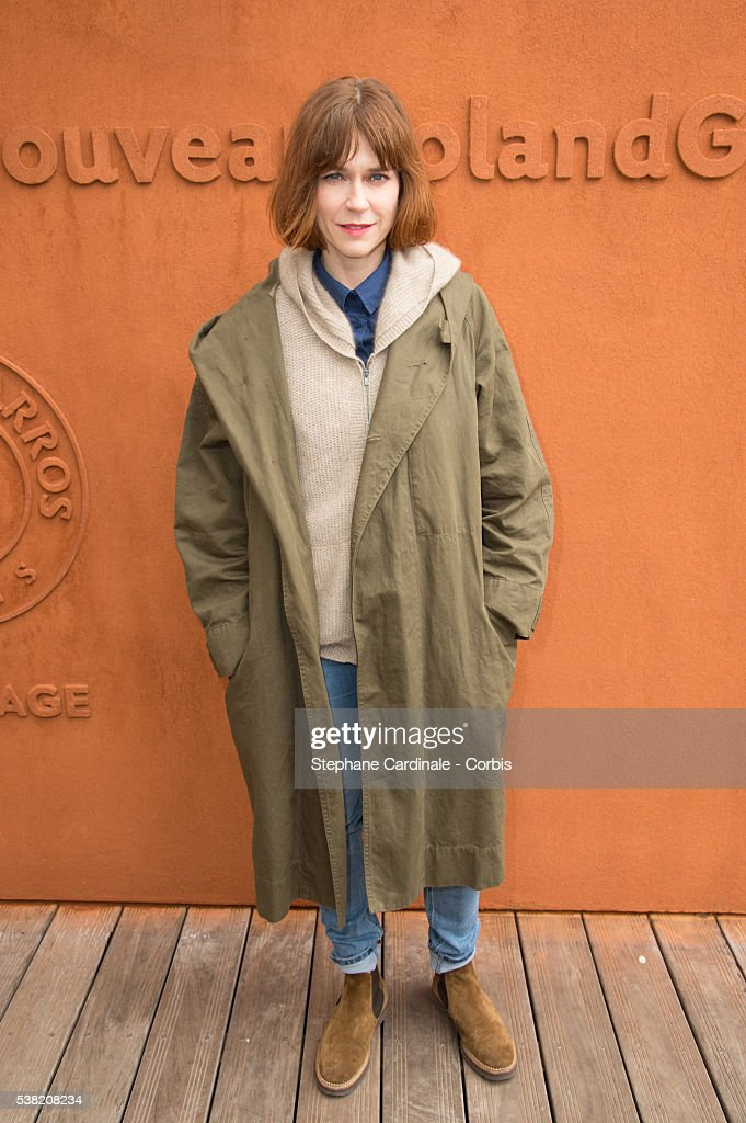 Actress MarieJosee Croze attends day Fourteen of the 2016 French Open at Roland Garros on June 4 2016 in Paris France