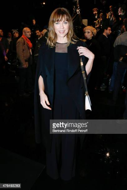 Actress MarieJosee Croze attends the Elie Saab show as part of the Paris Fashion Week Womenswear Fall/Winter 20142015 on March 3 2014 in Paris France