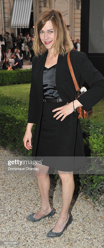 Actress MarieJosee Croze poses as she arrives at the Chloe new Fragance Launch at the Apicius restaurant in Paris on June 16 2010 in Paris France