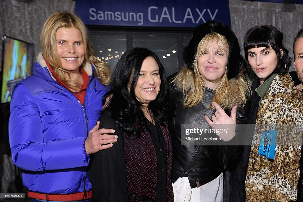Actress Mariel Hemingway, Filmmaker Barbara Kopple, Singer Courtney Love and Langley Hemingway attend Day 3 of Samsung Galaxy Lounge at Village At The Lift 2013 on January 20, 2013 in Park City, Utah.