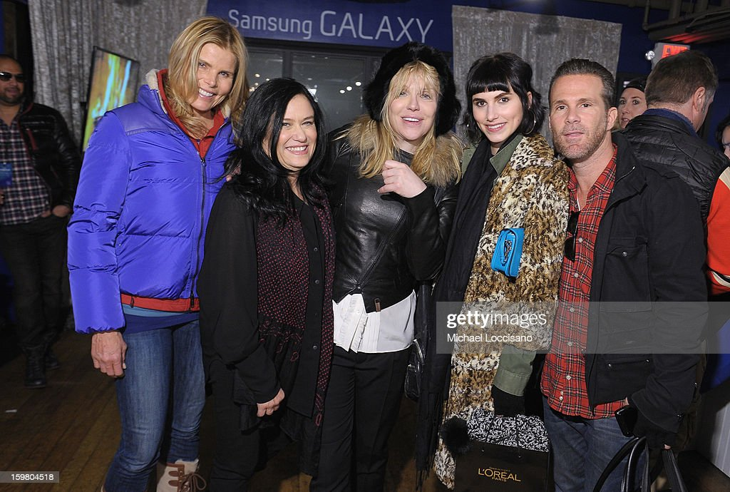 Actress Mariel Hemingway, filmmaker Barbara Kopple, singer Courtney Love, Langley Hemingway and Scott Lipps attend Day 3 of Samsung Galaxy Lounge at Village At The Lift 2013 on January 20, 2013 in Park City, Utah.