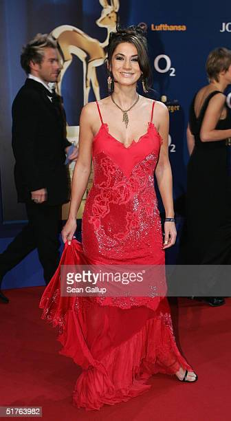 Actress Mariella Ahrens arrives at the Bambi Awards 2004 at the Theater im Hafen on November 18 2004 in Hamburg Germany