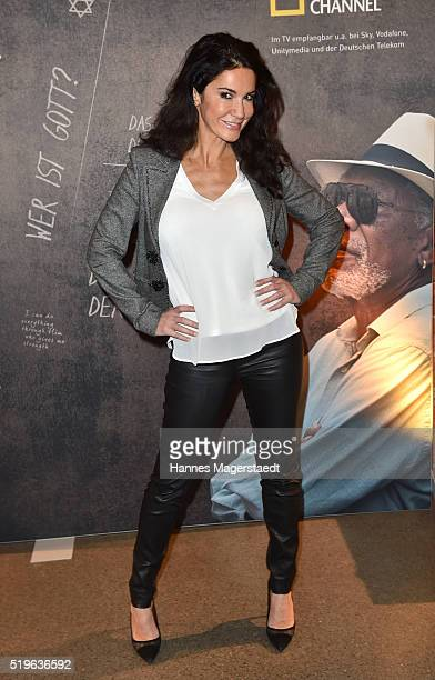 Actress Mariella Ahrens during the 'Morgan Freeman's Story of God' Premiere Screening at Allerheiligen Hofkirche on April 7 2016 in Munich Germany