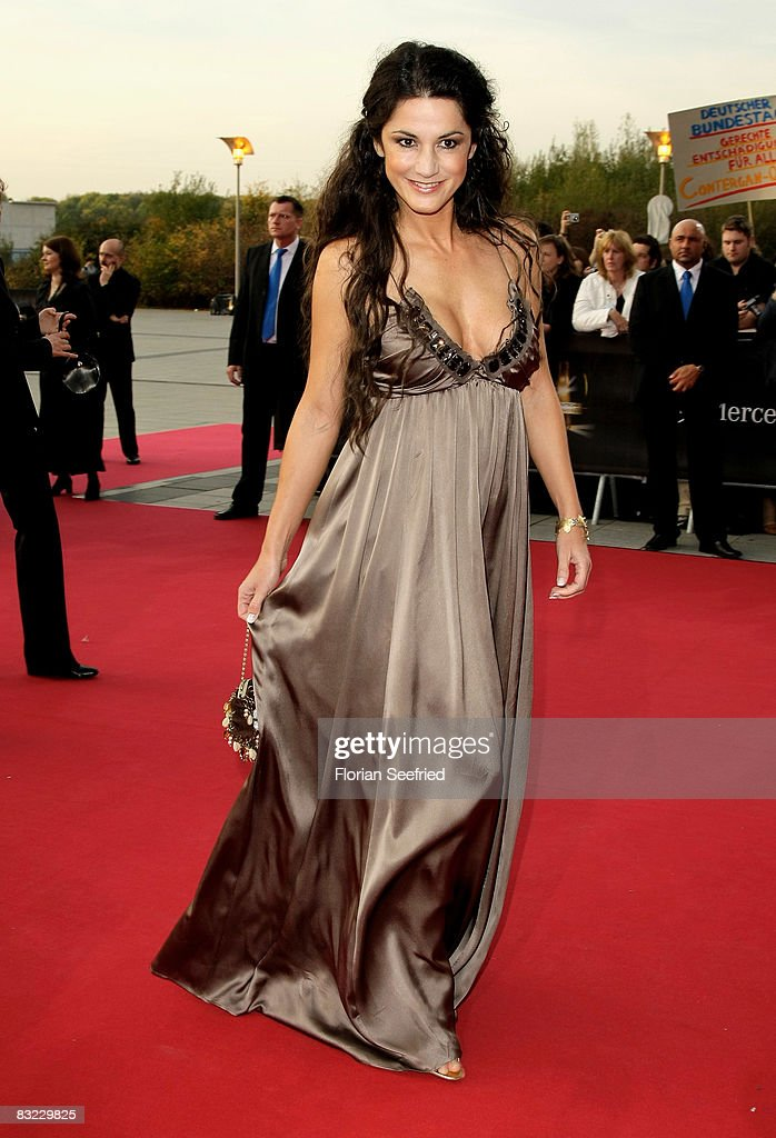 Actress Mariella von Faber-Castell arrives for the German TV Award 2008 at the Coloneum on October 11, 2008 in Cologne, Germany.