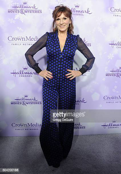 Actress Marilu Henner arrives at the Hallmark Channel and Hallmark Movies and Mysteries Winter 2016 TCA Press Tour at Tournament House on January 8...