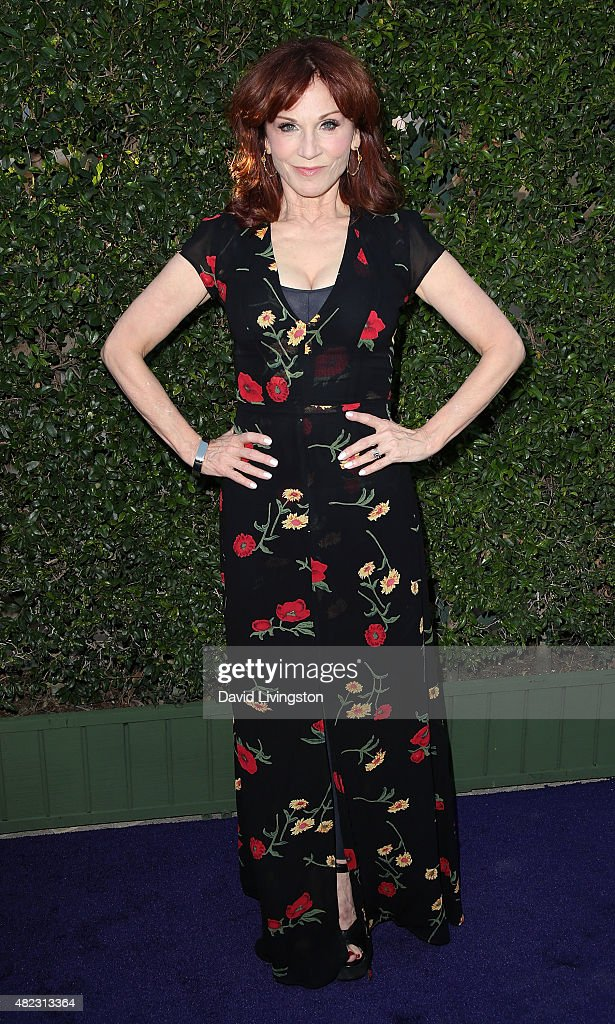 Actress Marilu Henner attends Hallmark Channel and Hallmark Movies and Mysteries at the 2015 Summer TCA Tour at a private residence on July 29, 2015 in Beverly Hills, California.