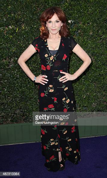 Actress Marilu Henner attends Hallmark Channel and Hallmark Movies and Mysteries at the 2015 Summer TCA Tour at a private residence on July 29 2015...