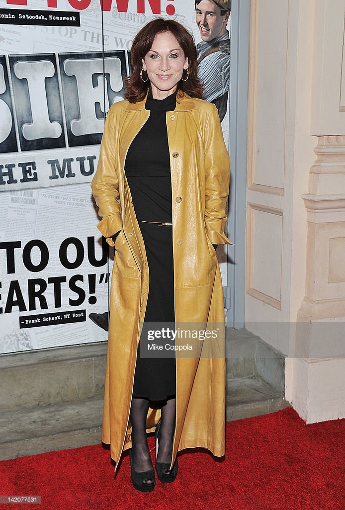 Actress Marilu Henner attends 'Newsies' Broadway opening night at the Nederlander Theatre on March 29 2012 in New York City