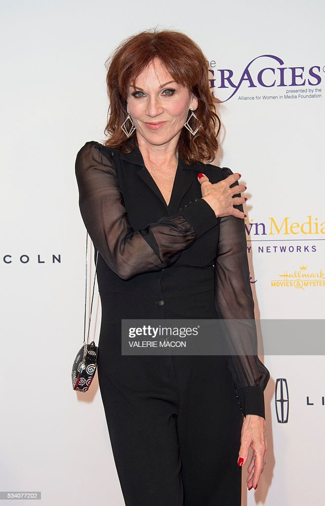 Actress Marilu Henner attends the 41st Annual Gracies Awards Gala, in Beverly Hills, California, on May 24, 2016. / AFP / VALERIE