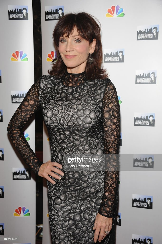 Actress <a gi-track='captionPersonalityLinkClicked' href=/galleries/search?phrase=Marilu+Henner&family=editorial&specificpeople=213140 ng-click='$event.stopPropagation()'>Marilu Henner</a> attends 'The Celebrity Apprentice All-Stars' Red Carpet at Trump Tower on May 7, 2013 in New York City.