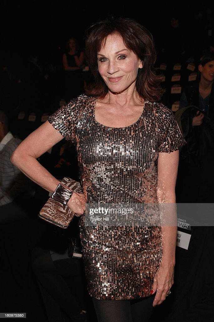Actress Marilu Henner attends the Project Runway Fall 2013 Mercedes-Benz Fashion Show at The Theater at Lincoln Center on February 8, 2013 in New York City.