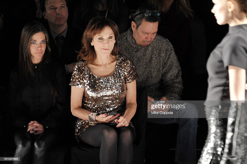 Actress Marilu Henner (C) attends the Project Runway Fall 2013 fashion show during Mercedes-Benz Fashion Week at The Theatre at Lincoln Center on February 8, 2013 in New York City.