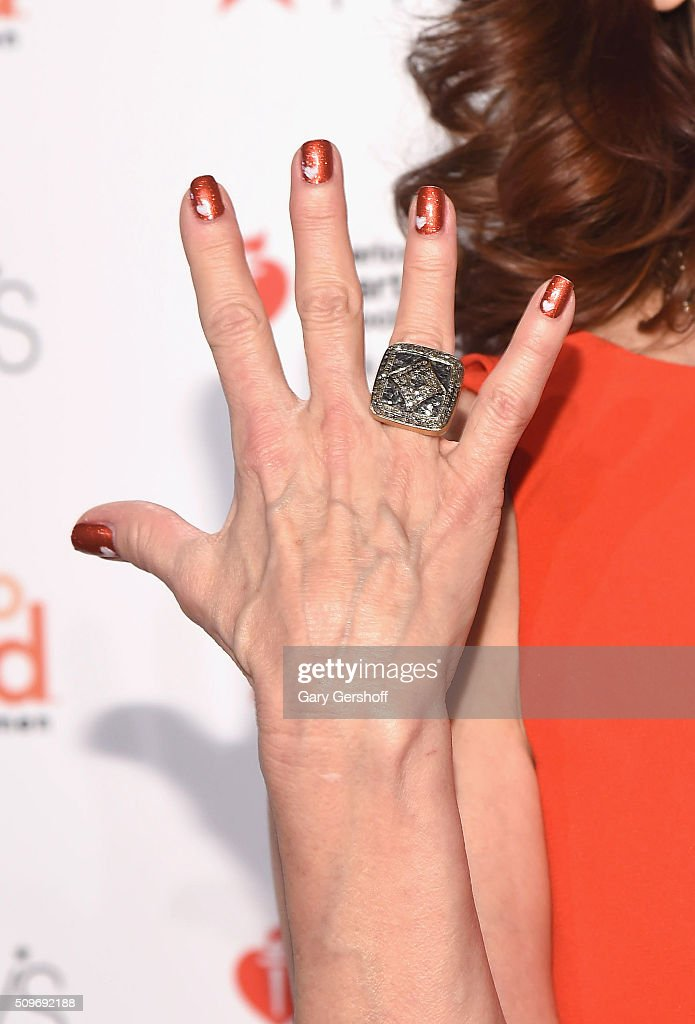 Actress <a gi-track='captionPersonalityLinkClicked' href=/galleries/search?phrase=Marilu+Henner&family=editorial&specificpeople=213140 ng-click='$event.stopPropagation()'>Marilu Henner</a>, ring detail, attends The American Heart Association's Go Red for Women Dress Collection 2016 at Skylight at Moynihan Station on February 11, 2016 in New York City.