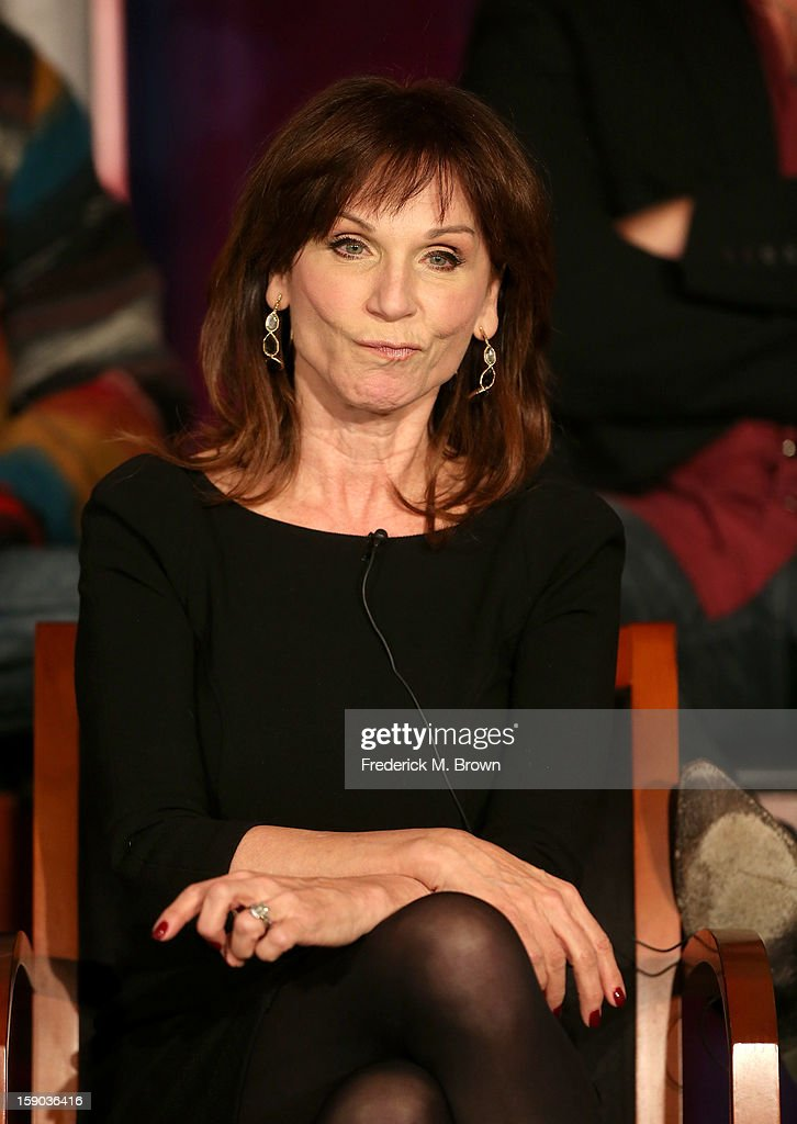 Actress Marilu Henner speaks onstage at the 'All Star Celebrity Apprentice' breakfast session during the NBCUniversal portion of the 2013 Winter TCA Tour- Day 3 at the Langham Hotel on January 6, 2013 in Pasadena, California.