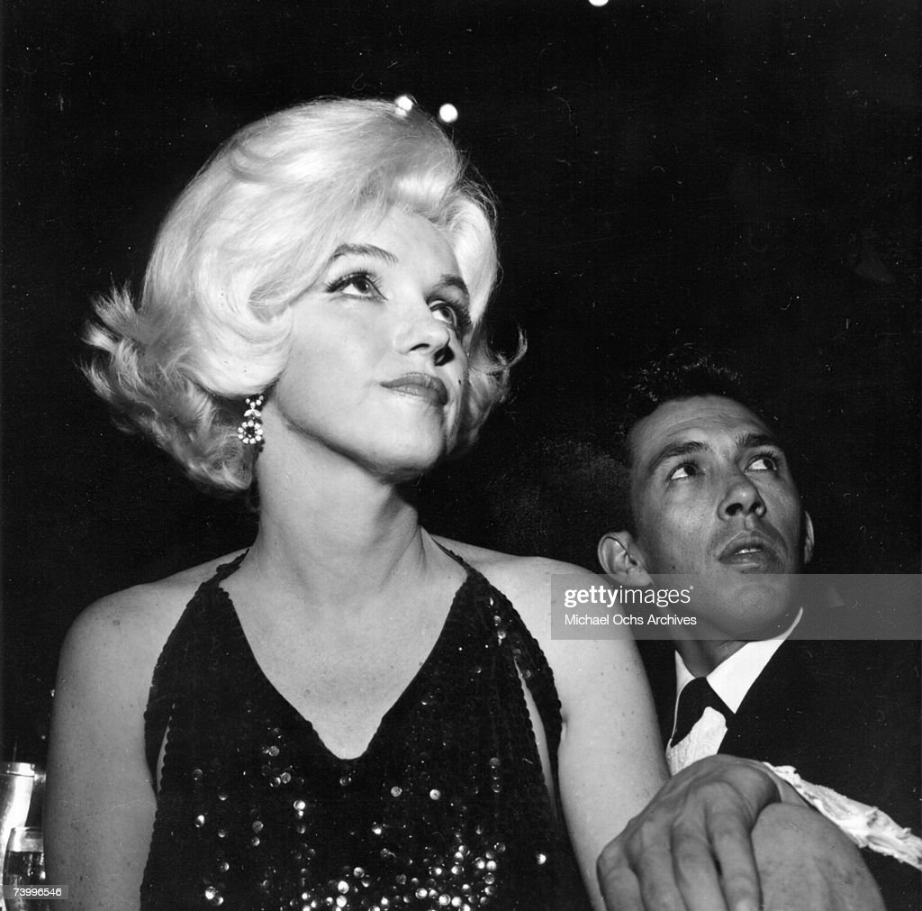 Actress Marilyn Monroe attends the Golden Globe Awards where she won the 'Henrietta' award at the Beverly Hilton Hotel on March 5, 1962 in Los Angeles, California.