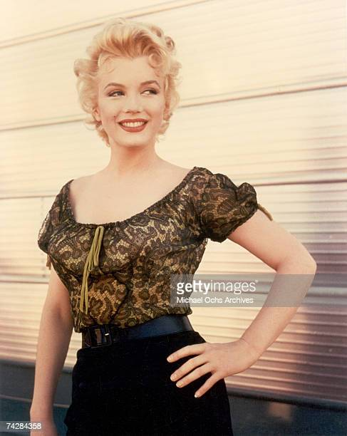 Actress Marilyn Monroe in a scene from 'Bus Stop' in 1956