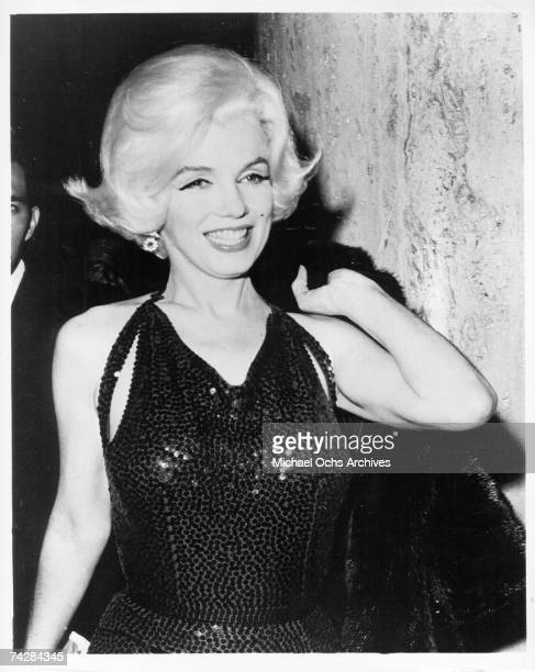 Actress Marilyn Monroe poses for a portrait at the Golden Globe Awards where she won the 'Henrietta' award at the Beverly Hilton Hotel on March 5...