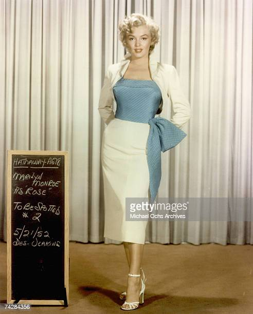 Actress Marilyn Monroe poses for a portrait dressed as Rose Loomis from the film 'Niagara' which was released on May 21 1953