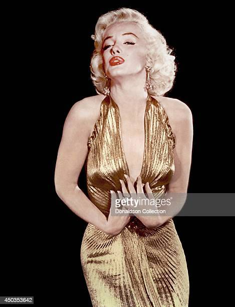 Actress Marilyn Monroe poses for a publicity portrait in 1953 in Los Angeles California