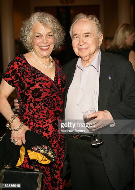 Actress Marilyn Sokol and TV host Joe Franklin attend the 2013 Theatre Museum Awards Hosted By Stewart F Lane Bonnie Comley at the Players Club on...