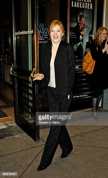 Actress Marin Ireland attends the opening night of 'Present Laughter' on Broadway at the American Airlines Theatre on January 21 2010 in New York City