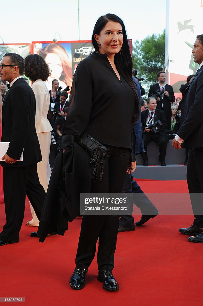Actress Marina Abramovic attends 'Gravity' premiere and Opening Ceremony during The 70th Venice International Film Festival at Sala Grande on August 28, 2013 in Venice, Italy.