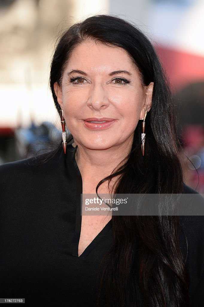 Actress <a gi-track='captionPersonalityLinkClicked' href=/galleries/search?phrase=Marina+Abramovic&family=editorial&specificpeople=2315598 ng-click='$event.stopPropagation()'>Marina Abramovic</a> attends 'Gravity' premiere and Opening Ceremony during The 70th Venice International Film Festival at Sala Grande on August 28, 2013 in Venice, Italy.