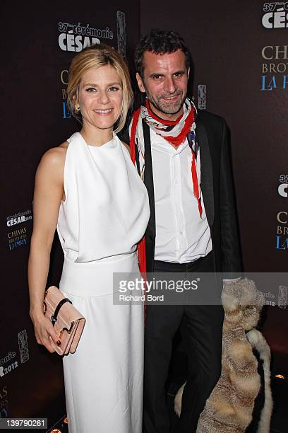 Actress Marina Fois and Eric Lartigau attend the Cesar Film Awards 2012 Afterparty at L'Arc on February 24 2012 in Paris France