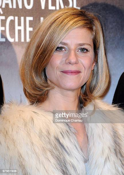 Actress Marina Fois attends the film Premiere of 'L'Immortel' at Gaumont Capucine on March 22 2010 in Paris France